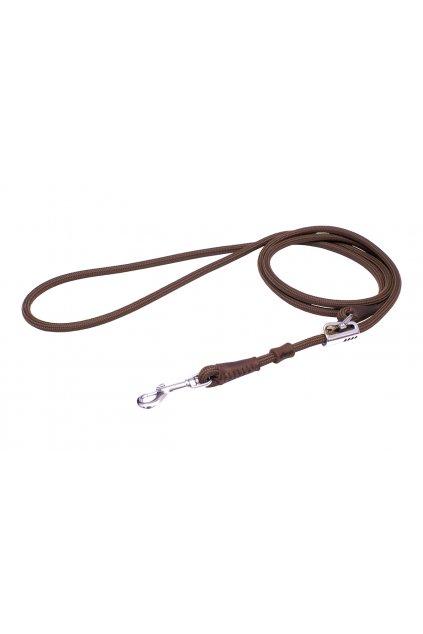 posuvne voditko z lana a kuze stribrna karabina