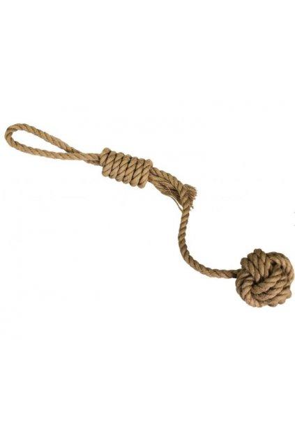 vrhaci lano s micem hiphop prirodni juta 43cm