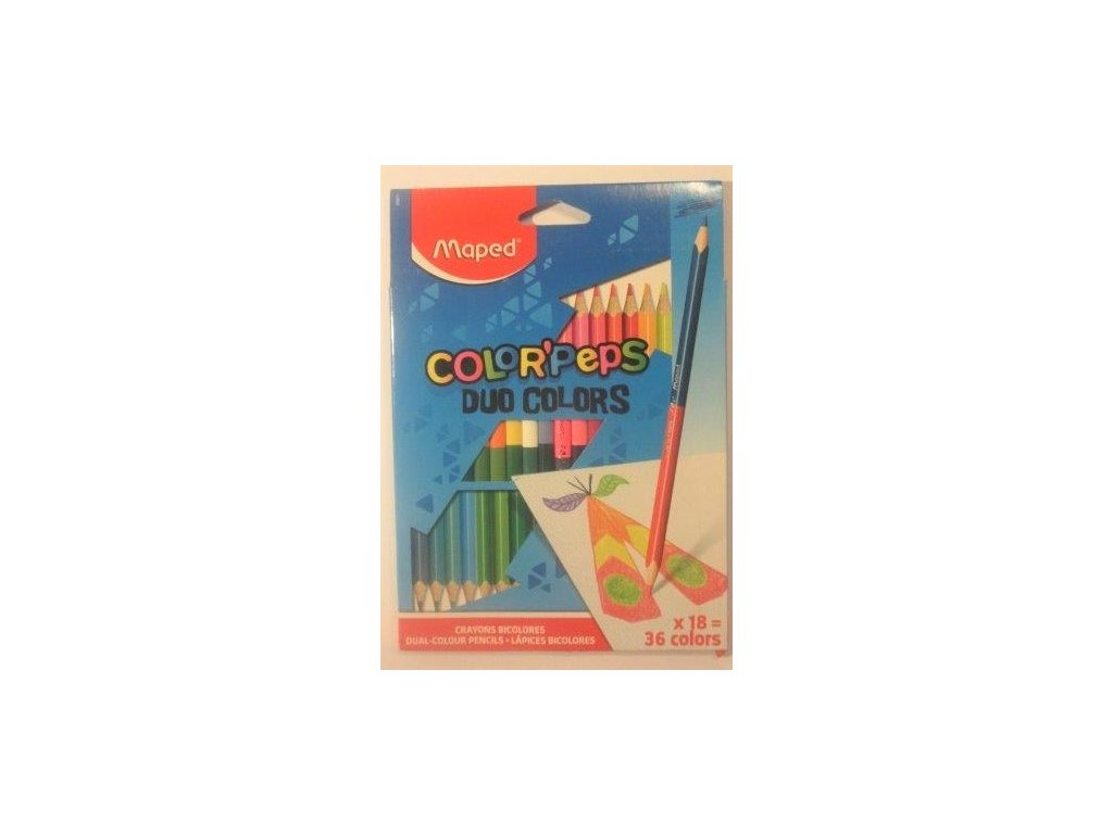 Pastelky MAPED Color´Peps Duo 18 ks