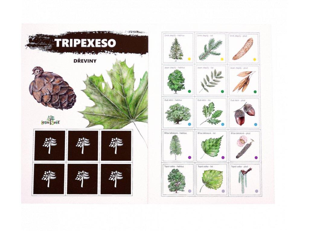 Papírové tripexeso - dřeviny