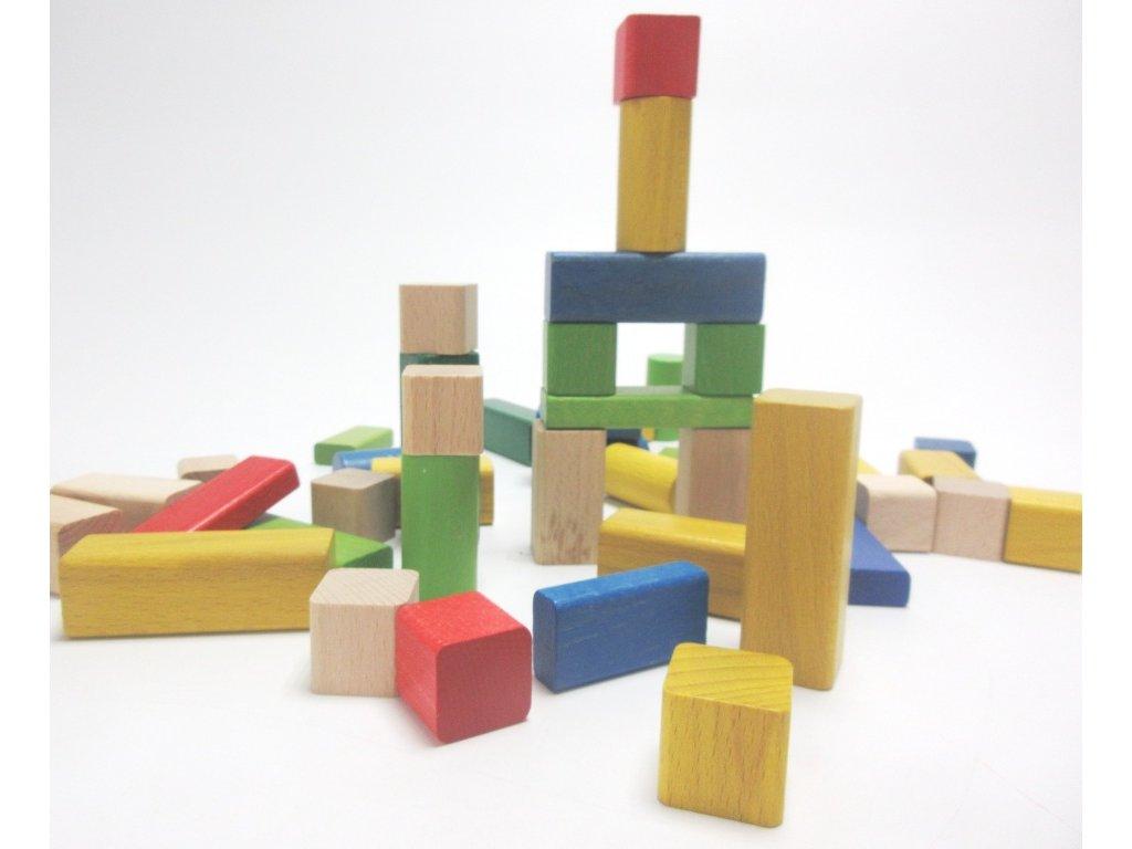 Dřevěné kostičky české kostky 50 ks 51128