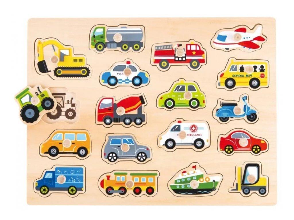 lelin edukacni vkladacka puzzle dopravni prostredky