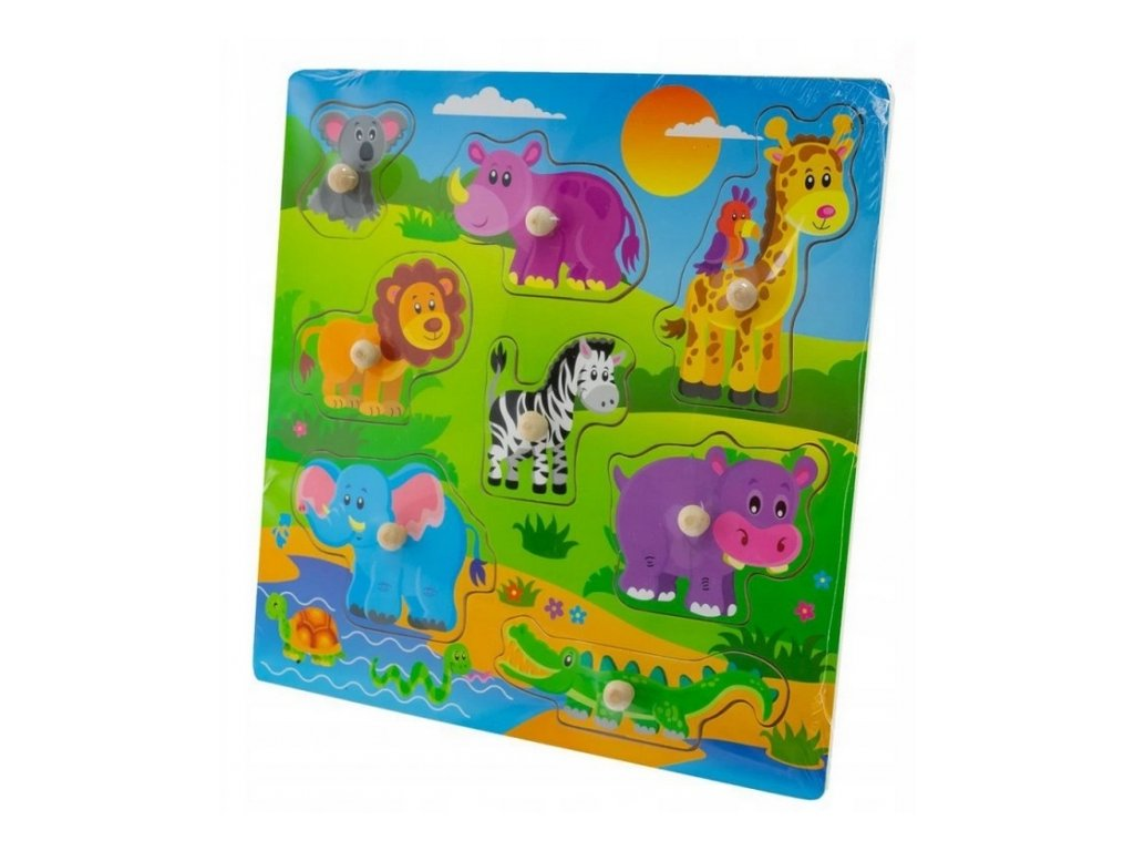 safari puzzle velké
