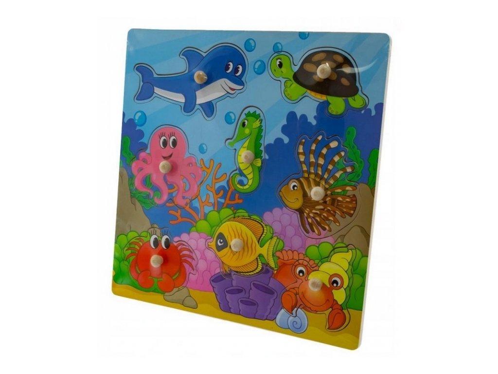 drevene zabavne puzzle vkladaci ocean ii