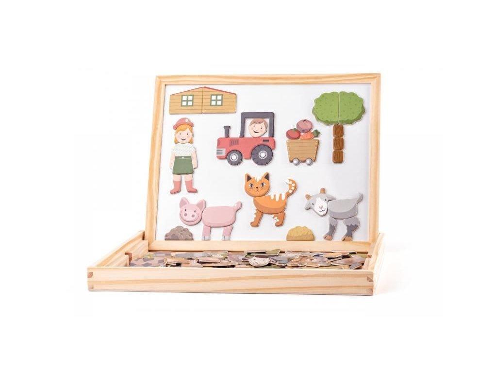 123976 213890 woody detska oboustranna magneticka tabulka se zviratky