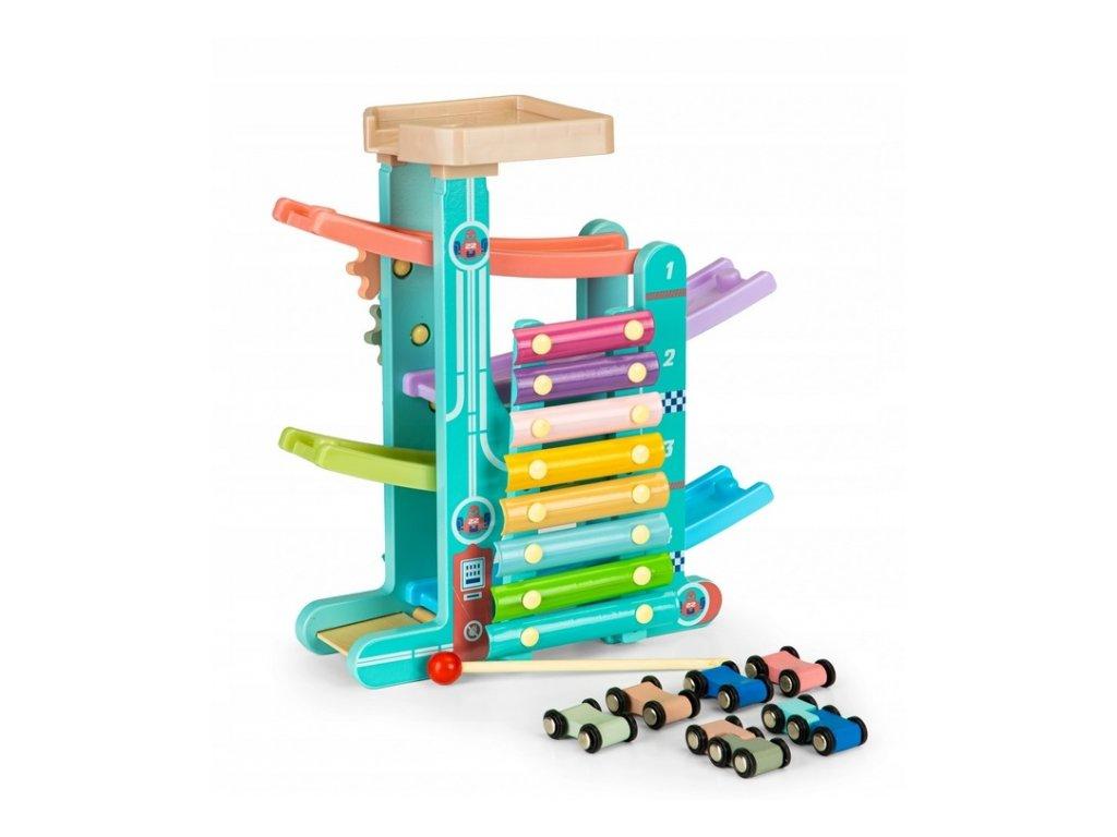 127145 222704 eco toys drevena edukacni skluzavka s xylofonem