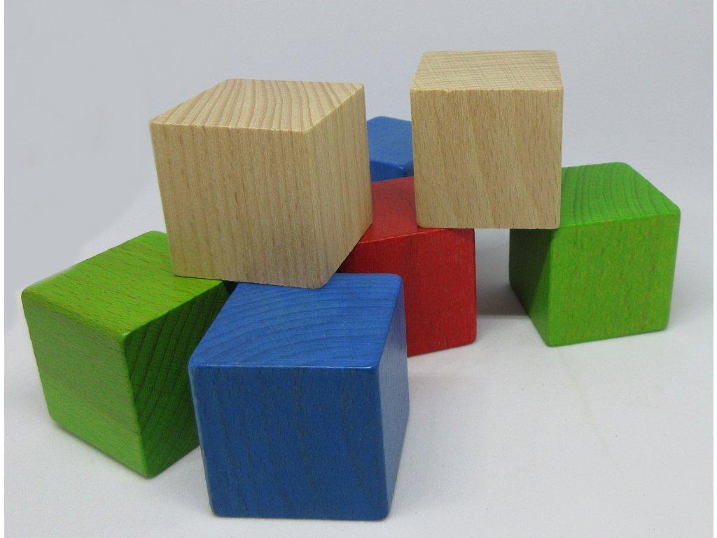Kostkoviště - kostka mix barev 50 ks