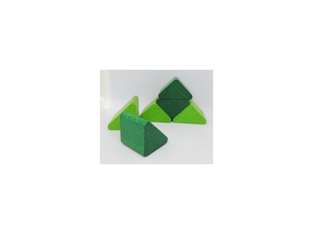Kostkoviště - trojúhelník  barva 50 ks