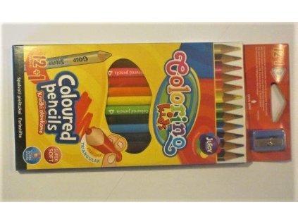 Colorino, trojhranné pastelky, 12 barev