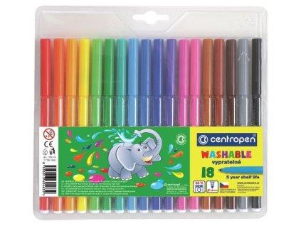 Centropen, fixy Colour World, sada 18 ks