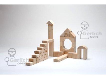 Dřevěné kostky 50 natur 51070