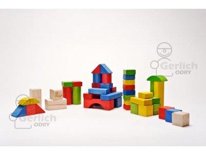 Dřevěné kostky mix 50 51071