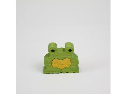 Dřevěné puzzle - žabka