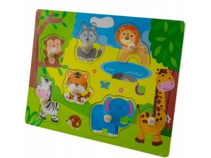 124555 215365 tulimi drevene zabavne puzzle vkladaci zoo male