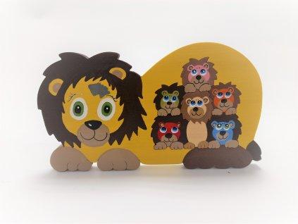 Lvíček Tuláček s mláďaty - skládačka