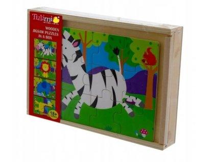 127569 223757 tulimi drevene zabavne puzzle 4v1 safari