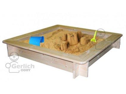 Dřevěné pískoviště se sítí 120x120