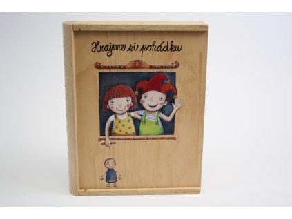 Gerlichovo knižní loutkové divadlo dřevěné