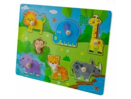 80356 127065 drevene zabavne puzzle vkladaci euro baby safari
