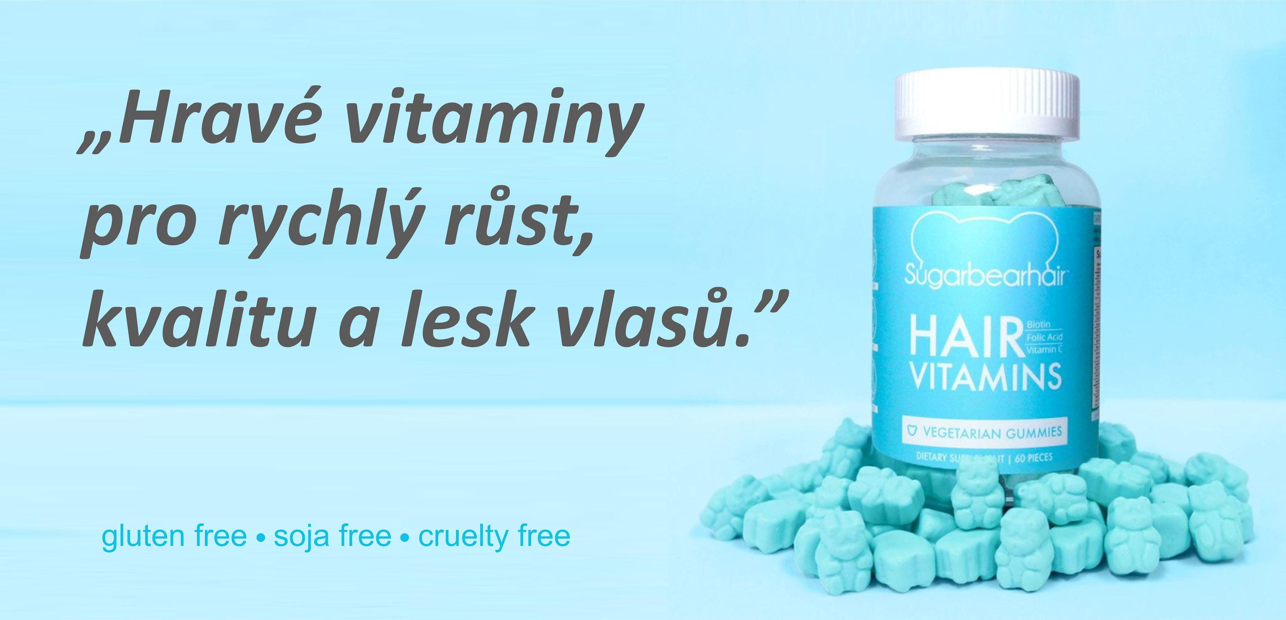Hravé vitaminy pro rychlý růst, kvalitu a lesk vlasů.