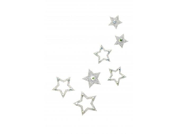 Nalepovací šperky SO.nia FAME Hvězdičky na tělo a vlasy 1016053  + DÁREK Lepivý lesk na tělo