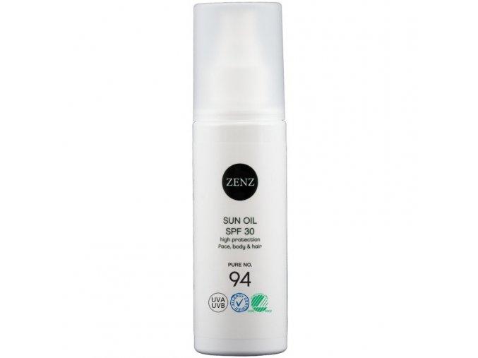 zenz organic sun oil face body hair 94 spf30 150 ml 1