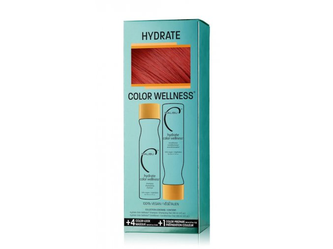 Malibu Color Wellness® Collection šampon 266 ml + kondicioner 266 ml + 5 x wellness sáček dárková sada