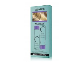 Malibu Blondes® ENHANCING COLLECTION SET, ŠAMPON 266 ML, KONDICIONER 266 ML, 4 X WELLNESS SÁČEK