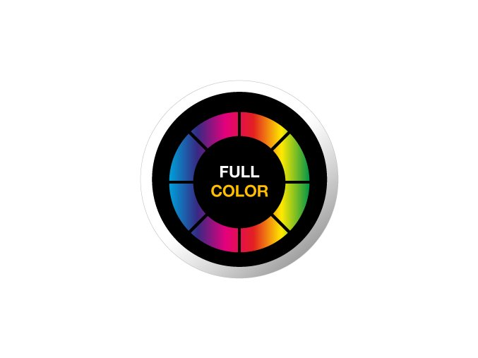 gobo full color plnobarevne sklenene