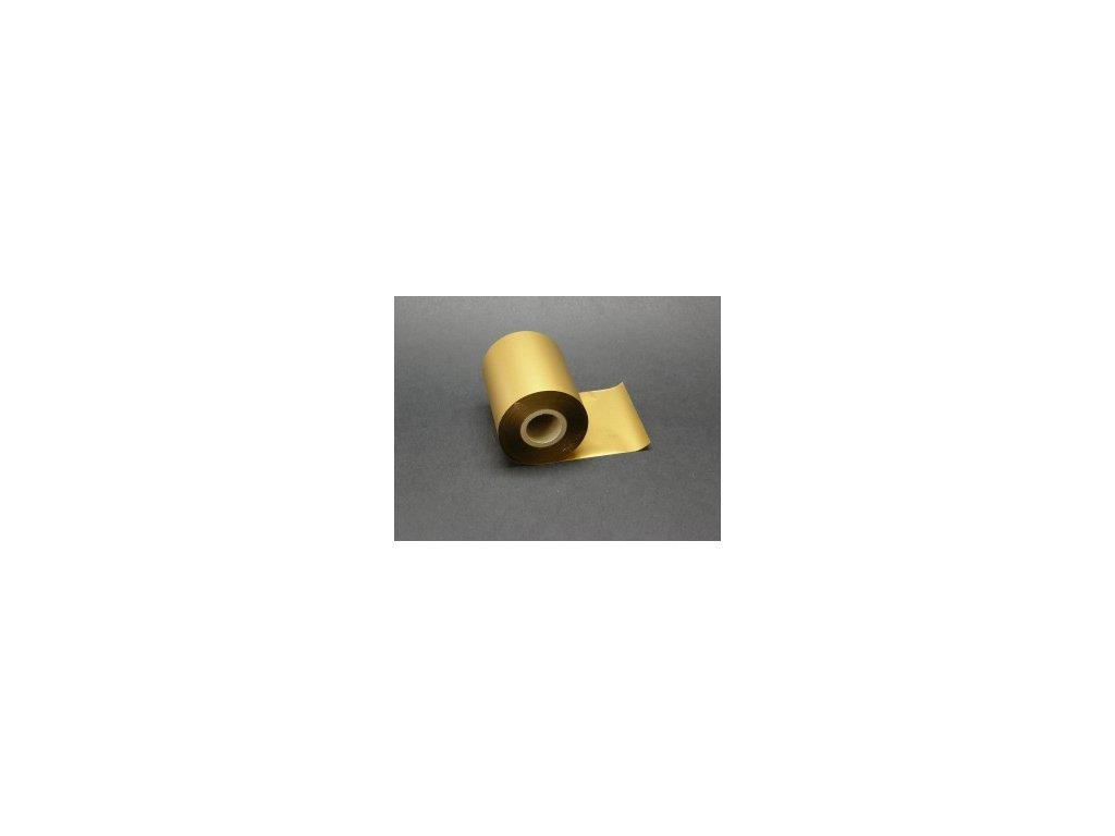 Termotransferová páska 80 mm x 200 m MAT GOLD