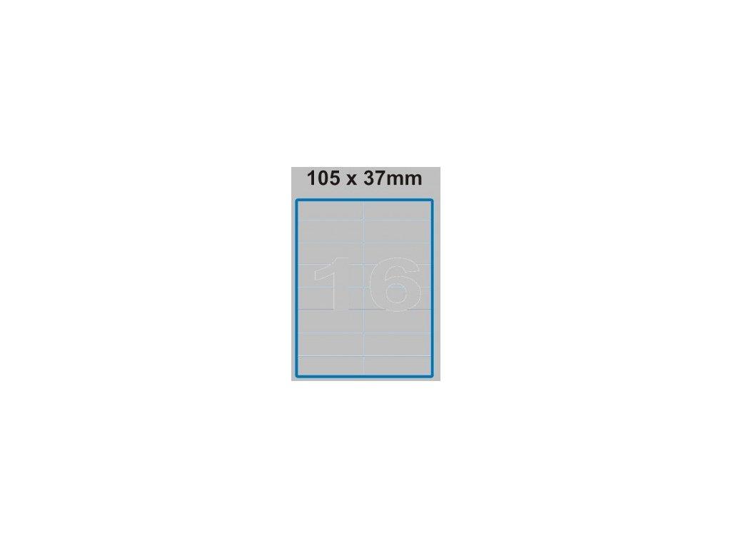 Etiketa 105 x 37 mm