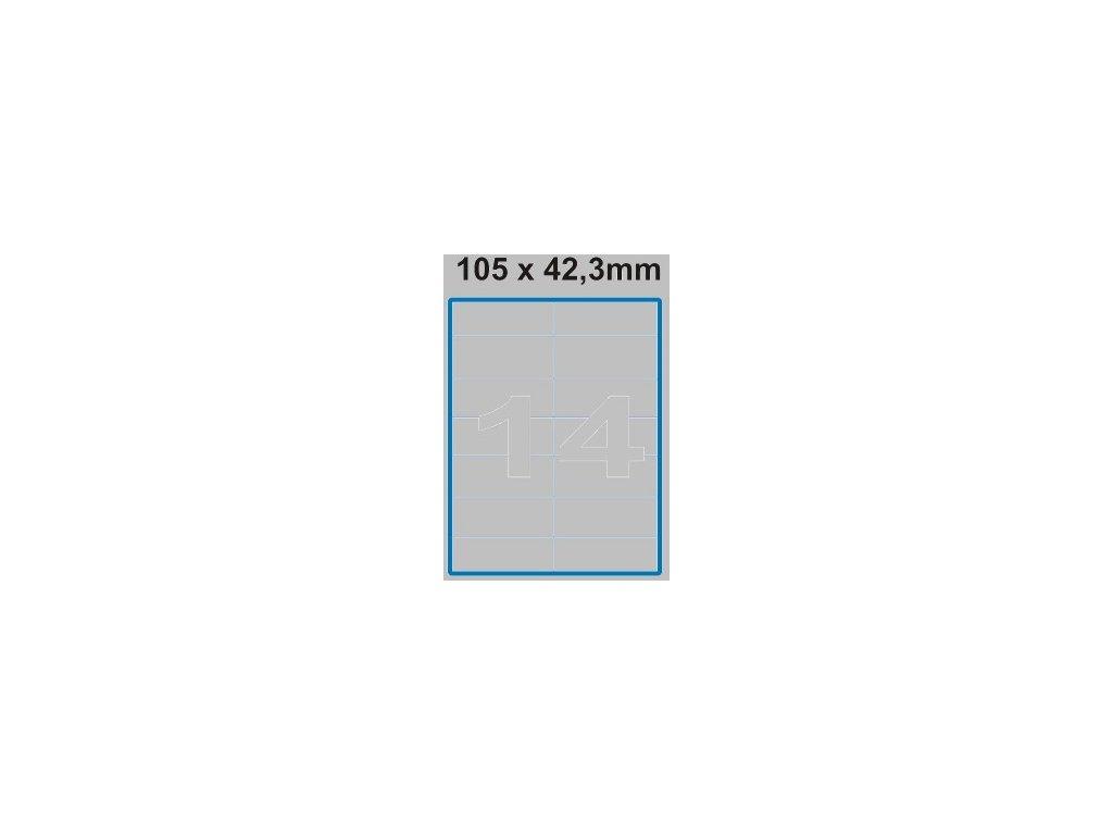 Etiketa 105 x 42,3 mm