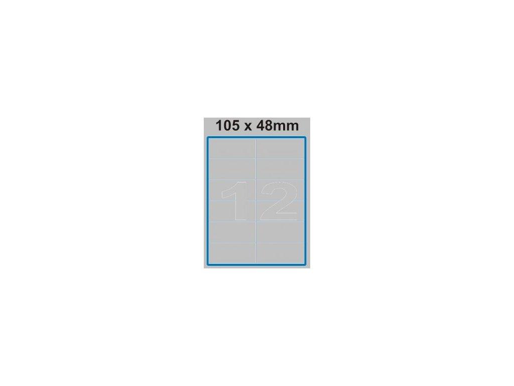 Etiketa 105 x 48 mm