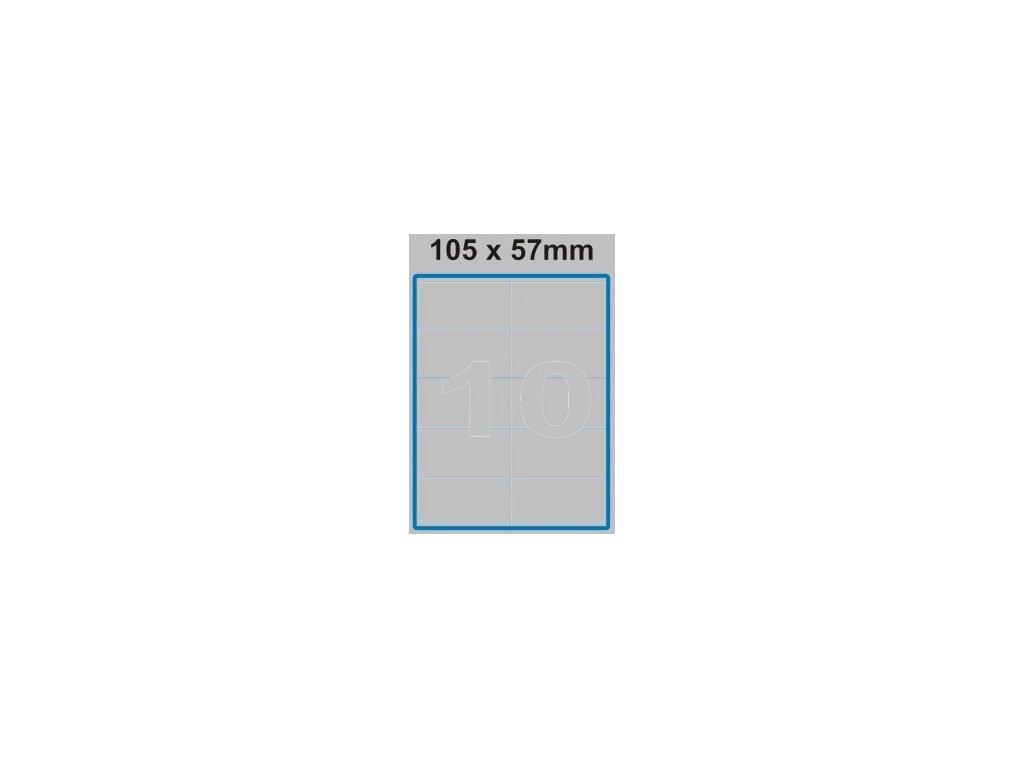 Etiketa 105 x 57 mm