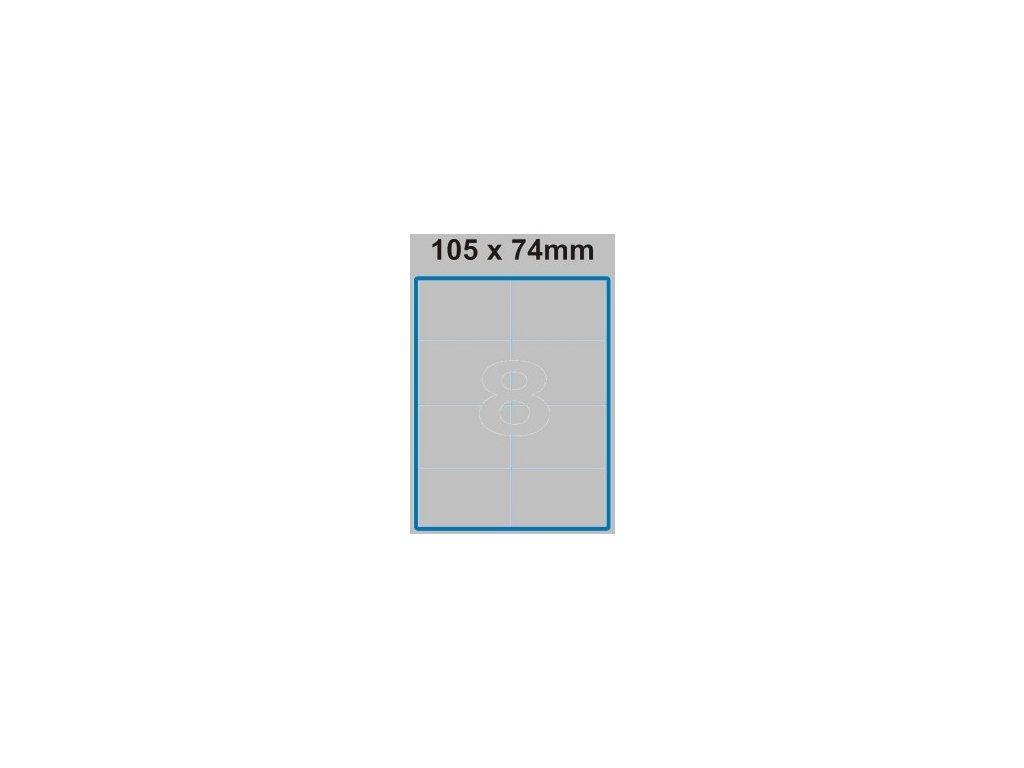 Etiketa 105 x 74 mm