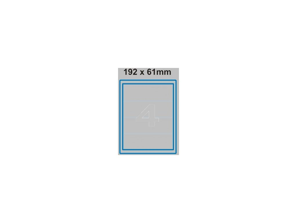 Etiketa 192 x 61 mm