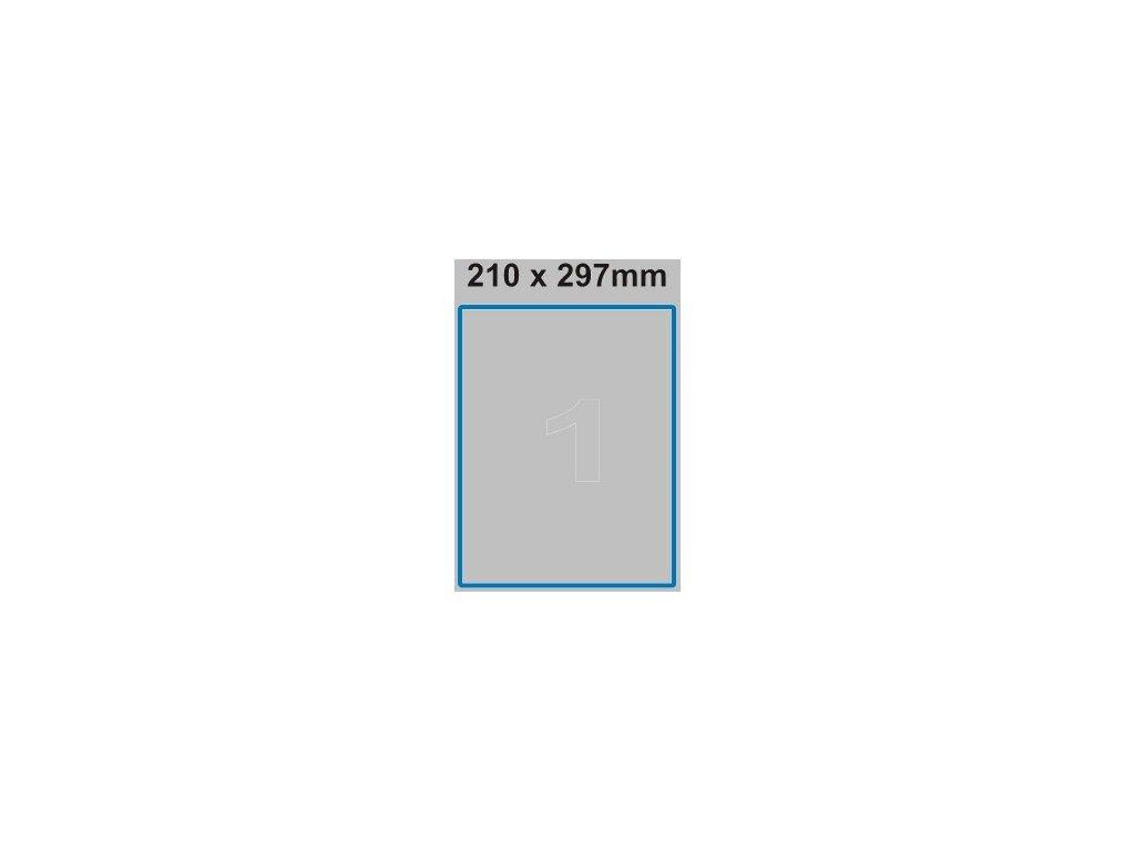 Etiketa 210 x 297 mm