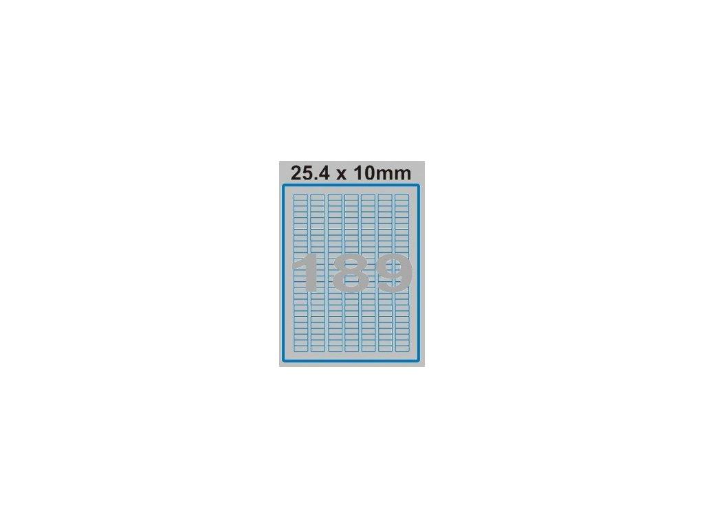 Etiketa 25,4 x 10 mm