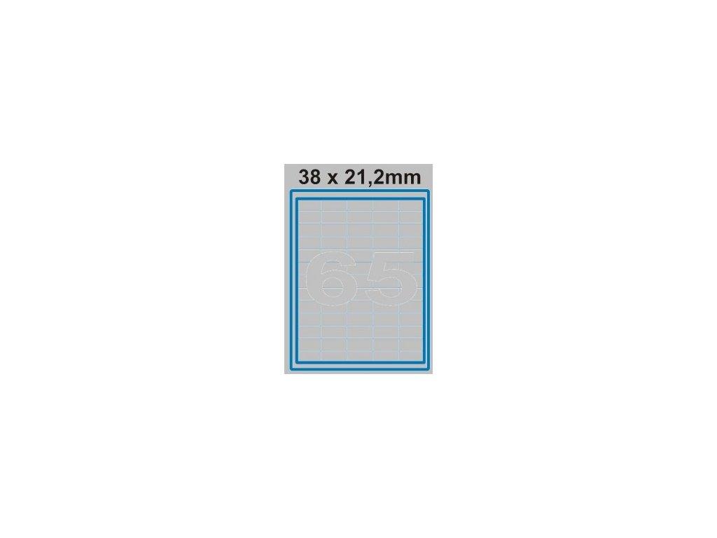 Etiketa 38 x 21,2 mm