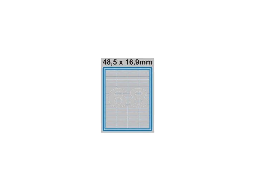 Etiketa 48,5 x 16,9 mm