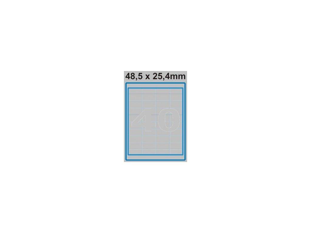 Etiketa 48,5 x 25,4 mm