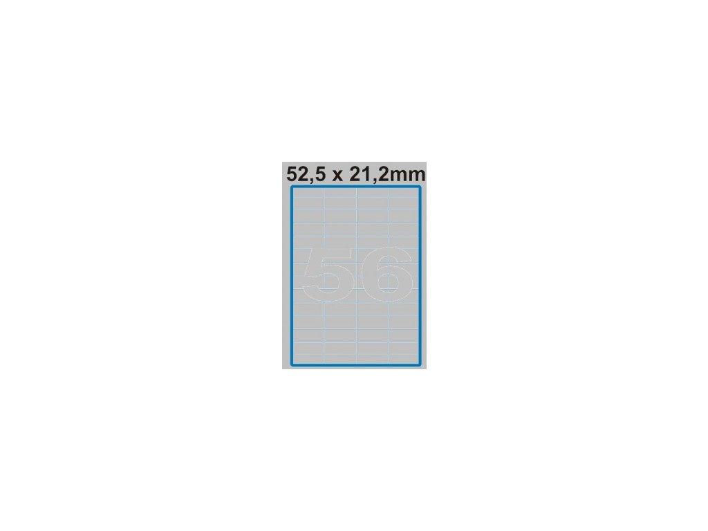 Etiketa 52,5 x 21,2 mm
