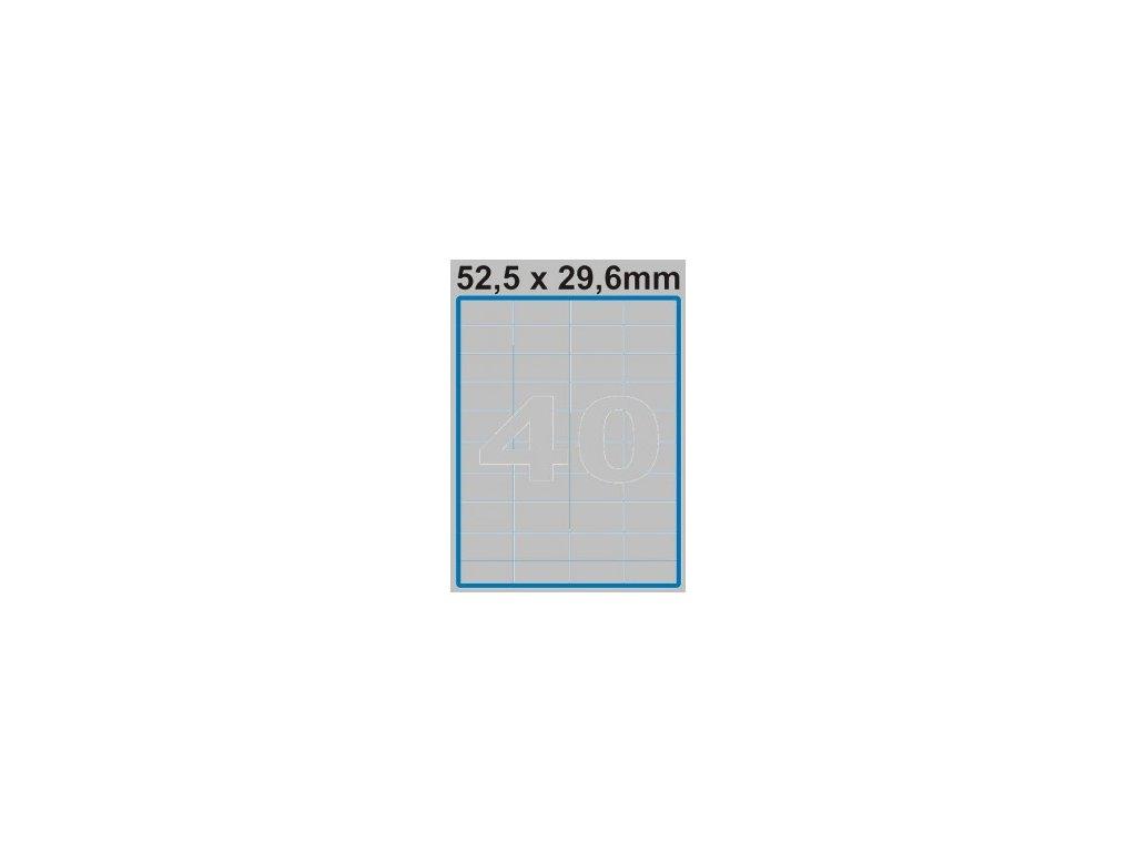 Etiketa 52,5 x 29,6 mm