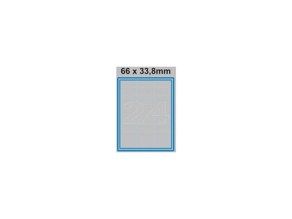 Etiketa 66 x 33,8 mm