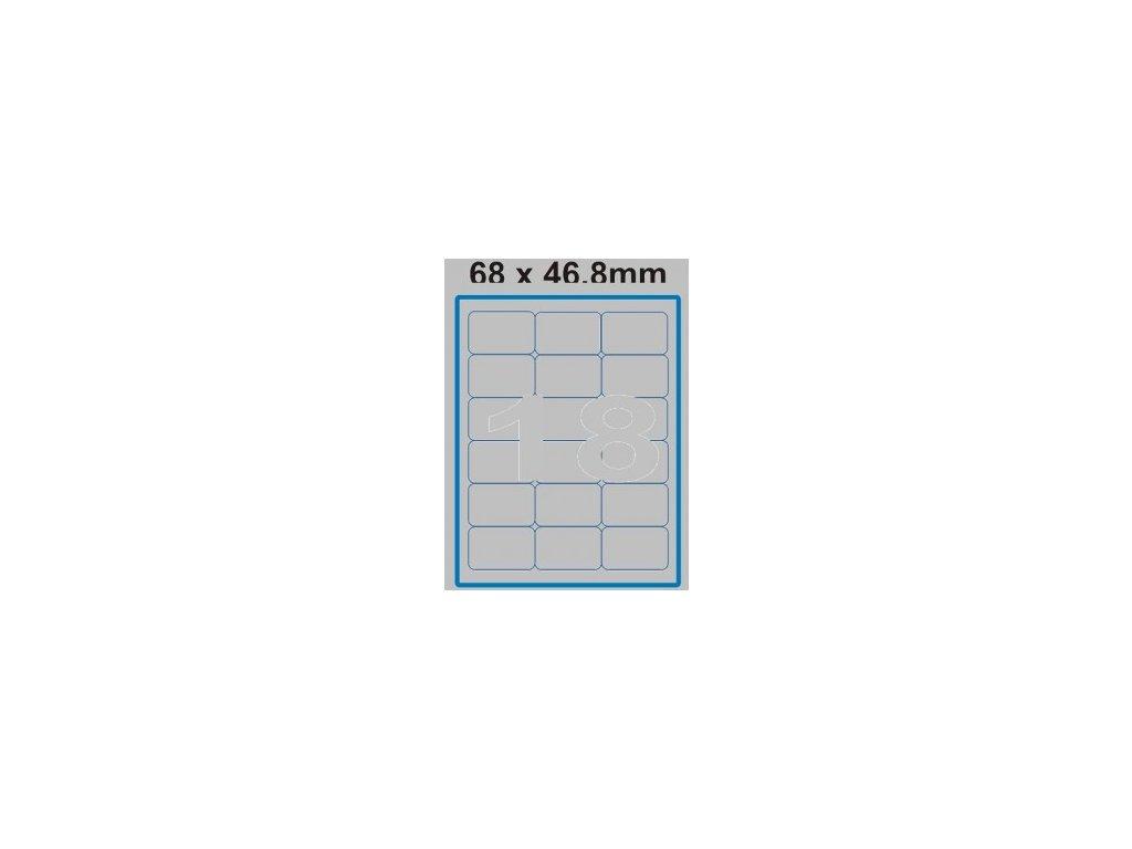 Etiketa 68 x 46,8 mm