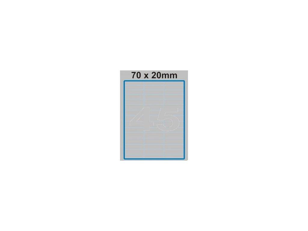 Etiketa 70 x 20 mm