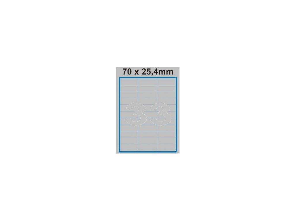 Etiketa 70 x 25,4 mm