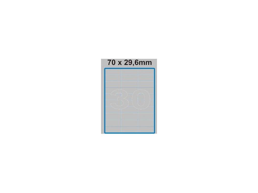 Etiketa 70 x 29,6 mm