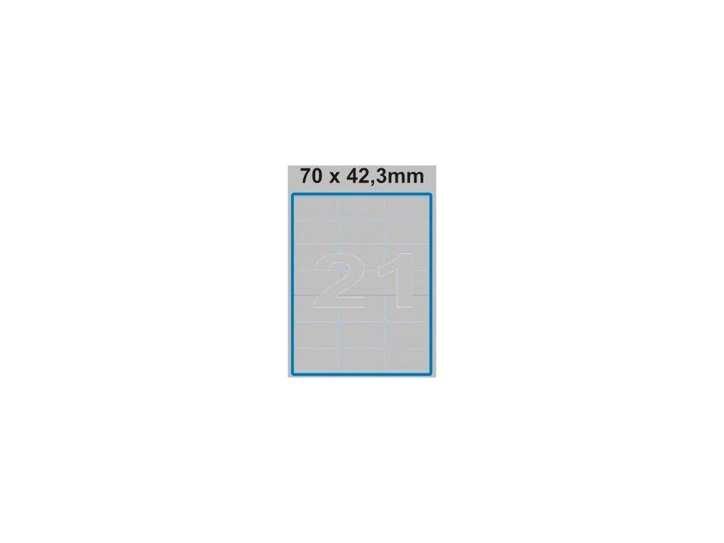 Etiketa 70 x 42,3 mm