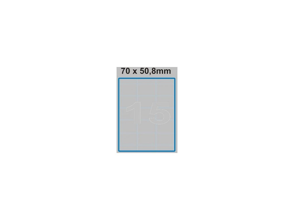 Etiketa 70 x 50,8 mm